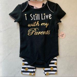 🆕I Still Live With My Parents Onesie Set